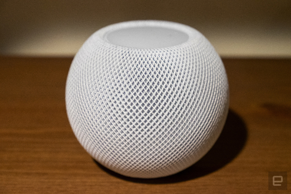 Apple's HomePod mini won't leave marks on your fancy wood furniture
