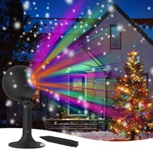 Christmas Projector Lights Outdoor and Indoor Projector Light for Xmas Waterproof Holiday Night Lights for Yard Party