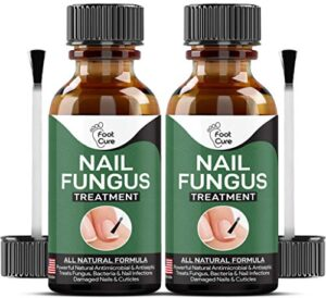 EXTRA STRONG Nail Fungus Treatment -Made In USA, Best Nail Repair Set, Stop Fungal Growth, Effective Fingernail & Toenail Solution, Fix & Renew Damaged, Broken, Cracked & Discolored Nails - 2 Pack