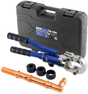 """IBOSAD Copper Tube Fittings Hydraulic Pipe Crimping Tool with 1/2"""",3/4"""" and 1"""" Jaw Copper Pipe Propress Crimper Pressing Pliers"""