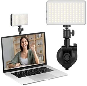 Laptop Light for Video Conference, ULANZI Notebook Computer Suction Mount Lighting Kits for Remote Working Zoom Calls Self Broadcasting Live Streaming Compatible with MacBook iPad ASUS Lenovo Acer HP