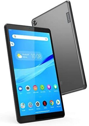 """Lenovo Tab M8 Tablet, 8"""" HD Android Tablet, Quad-Core Processor, 2GHz, 16GB Storage, Full Metal Cover, Long Battery Life, Android 9 Pie, ZA5G0102US, Slate Black"""