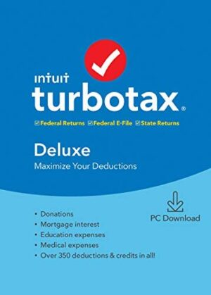 TurboTax Deluxe + State 2019 Tax Software [Amazon Exclusive] [PC Download] [Old Version]